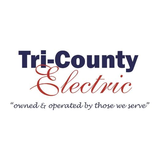 """Tri-County Electric Site Logo Tri-County Electric """"owned and operated by those we serve"""""""