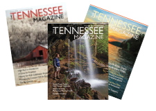 This is a photo of three magazine covers for Tennessee Magazine. It is used on the website as an icon button to allow you to click through to read back issues of the magazine.