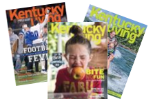 Icon for Kentucky Living Magazine. It is a graphic of three magazine covers. It is the click through hotlink button to view back issues of Kentucky Living Magazine.