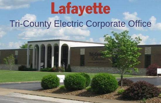 Photo of the Lafayette, TN Tri-County Electric office.