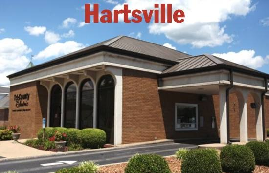 Photo of the right side and front of the Hartsville, TN Tri-County Electric office.