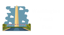 This is a grapic of the Washington Monument surrounded by American flags with the words Washington Youth Tour. It is used to represent the Washington Youth Tour competition sponsored by Tri- County Electric.